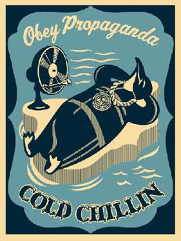 Cold Chillin Blue - Shepard Fairey