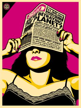 Global Warning Warhol - Shepard Fairey