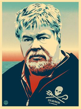 Paul Watson light blue - Shepard Fairey