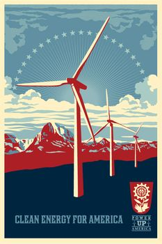 Power Up Windmill offset - Shepard Fairey