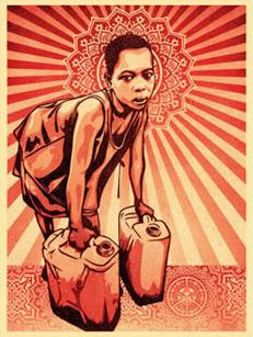 Yellow Cans - Shepard Fairey