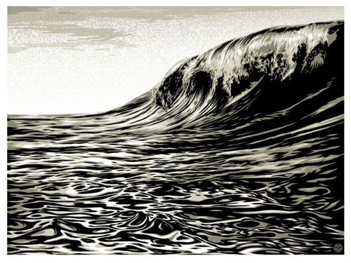 Dark Wave White - Shepard Fairey