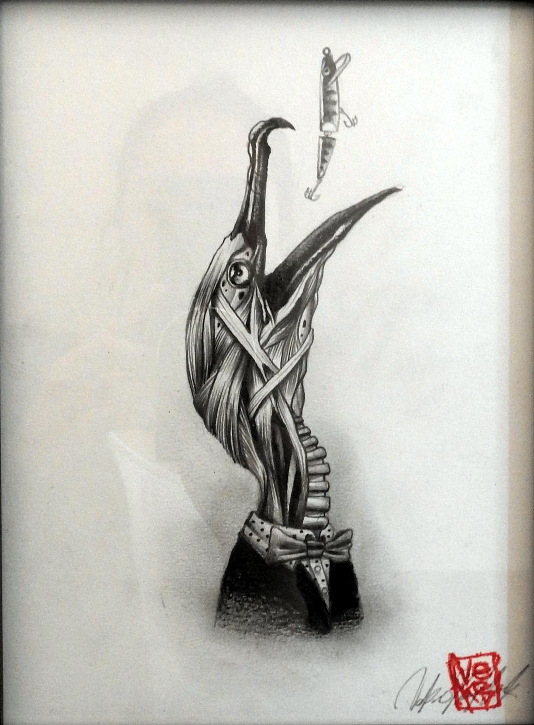 Portrait d'écorchés Cormoran - Veks Van Hillik