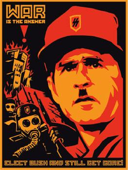 Bush Gore Poster - Shepard Fairey