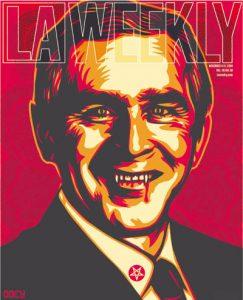 Vampire Bush LA Weekly - Shepard Fairey